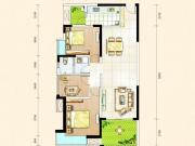东风阳光城四期锦程世家H户型3室2厅1卫2阳台111㎡