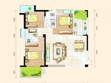 东风阳光城四期锦程世家G2户型3室2厅2卫2阳台 126㎡