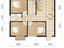 东城华府C1户型3室2厅1卫1阳台 102.94㎡