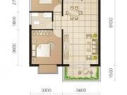东城华府C2户型2室2厅1卫1阳台78.18㎡