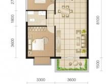 东城华府C2户型2室2厅1卫1阳台 78.18㎡