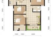 东城华府C3户型3室2厅1卫1阳台96.53㎡