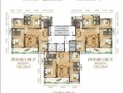 汉成天地A户型3室2厅2卫1阳台114.74㎡