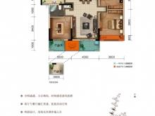 美珑公园B2户型3室2厅1卫1阳台 116㎡