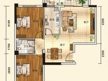 五堰新天地D1户型2室2厅1卫1阳台 83.75㎡