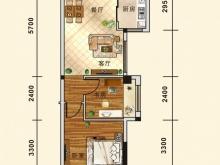 五堰新天地D5户型2室2厅1卫2阳台 65.49㎡
