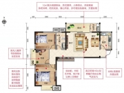 四方新城·都市麗景E户型3室2厅1卫1阳台118.68㎡