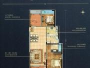 万达华府C户型2室2厅2卫1阳台113.05㎡