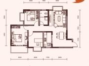 祥安玫瑰苑A户型3室2厅1卫1阳台92.6㎡
