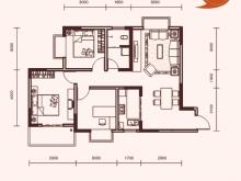 祥安东城国际花园玫瑰苑A户型3室2厅1卫1阳台 92.6㎡