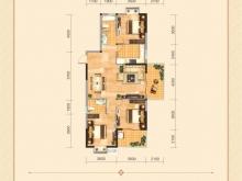 兴丽城D1户型3室2厅2卫1阳台 138㎡