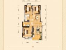 兴丽城D2户型3室2厅1卫1阳台 115㎡