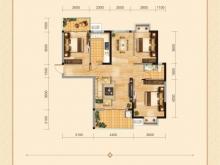 兴丽城D3户型3室2厅1卫2阳台 119㎡