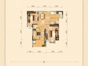 兴丽城D6户型2室2厅1卫1阳台80㎡