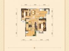 兴丽城D6户型2室2厅1卫1阳台 80㎡