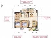 四方新城·都市麗景G户型3室2厅1卫1阳台104.09㎡