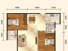 五堰新天地F1-2户型2室2厅1卫1阳台 80.1㎡