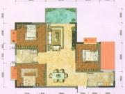 恒融枫尚城G1户型3室2厅1卫2阳台105.21㎡