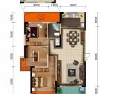 美珑公园B6户型3室2厅1卫1阳台117㎡