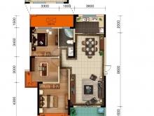 美珑公园B6户型3室2厅1卫1阳台 117㎡