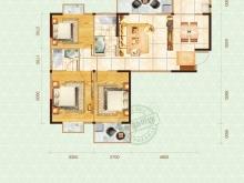 嘉和新世界2户型2室2厅1卫1阳台 58.46㎡