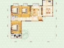嘉和新世界1户型3室2厅1卫1阳台 100.83㎡