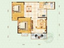 嘉和新世界1户型2室2厅1卫1阳台 84.92㎡