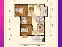 五堰新天地E3/E4户型3室2厅1卫1阳台 102.28㎡