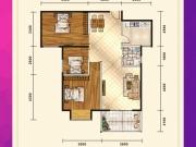 五堰新天地F1-3户型3室2厅1卫1阳台95.62㎡