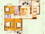 嘉和新世界H户型3室2厅2卫2阳台104㎡