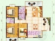 嘉和新世界E户型3室2厅2卫2阳台135.21㎡
