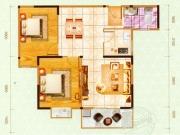 嘉和新世界H户型2室2厅1卫1阳台84.96㎡