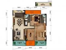 美珑公园B3户型3室2厅2卫2阳台 133㎡