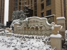 唐城中岳汇2018年1月雪景图