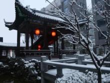 四方新城·匠园2018年1月雪景图