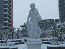祥安东城国际花园玫瑰苑雪景