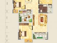 德正苑3-2-5户型3室2厅1卫2阳台 74.81㎡