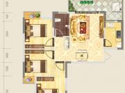 德正苑3-2-5户型3室2厅1卫1阳台85.17㎡