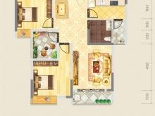 德正苑7-3户型3室2厅1卫2阳台 82.38㎡