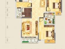 德正苑7-2户型3室2厅1卫2阳台 82.38㎡