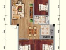 兴业花园B户型3室2厅1卫2阳台 107.46㎡