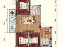 兴业花园C户型3室2厅1卫1阳台 88.98㎡