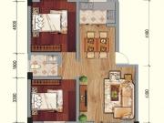 兴业花园D户型2室2厅1卫2阳台75.47㎡