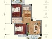 兴业花园E户型2室2厅1卫2阳台75.34㎡