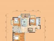 成邦华夏公馆A户型3室2厅2卫1阳台117.87㎡