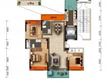 美珑公园B4户型3室2厅2卫1阳台 128.94㎡