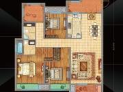 万达华府E2户型3室2厅2卫139.6㎡