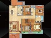 万达华府F2户型4室2厅2卫157.7㎡