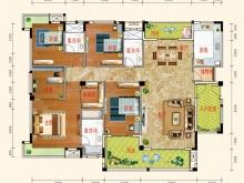 东风阳光城四期锦程世家K户型5室2厅3卫2阳台 210㎡