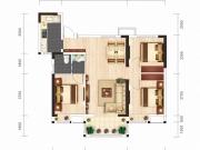 汉成时代A2户型3室2厅1卫1阳台102㎡